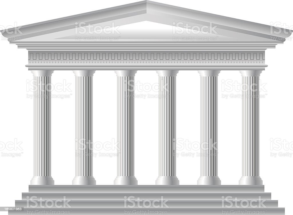 Roman Temple royalty-free stock vector art