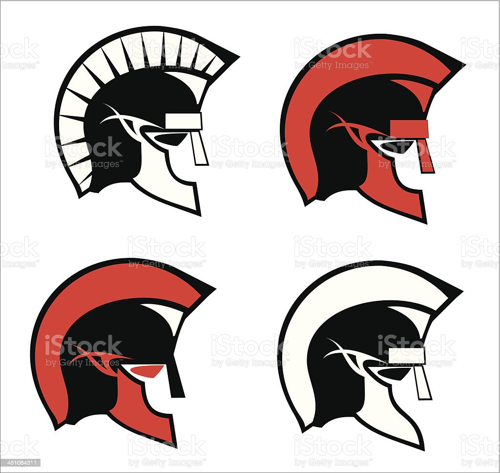 roman troops heads royalty-free stock vector art