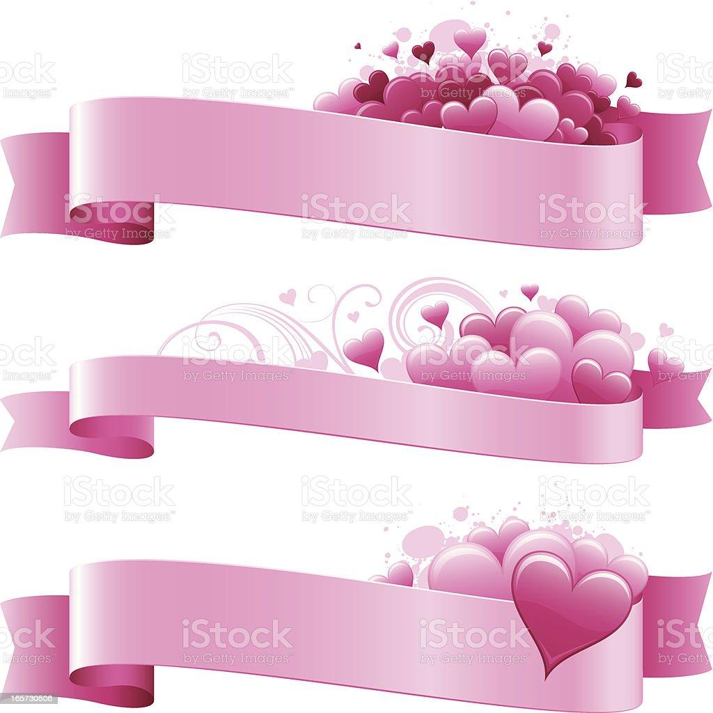 Romance banners royalty-free stock vector art