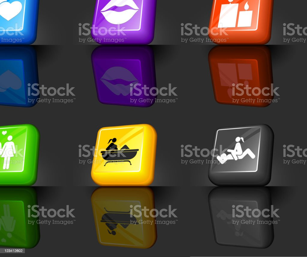 romance internet icon set each element is grouped royalty-free stock vector art