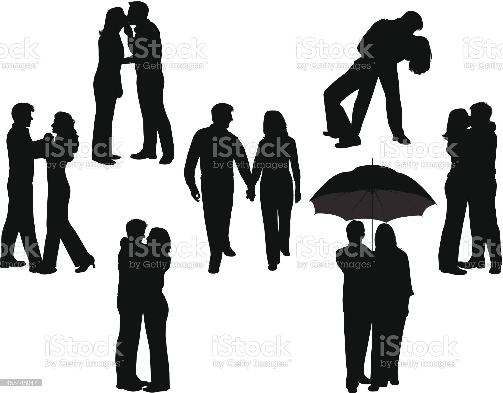 Romance Silhouettes royalty-free stock vector art