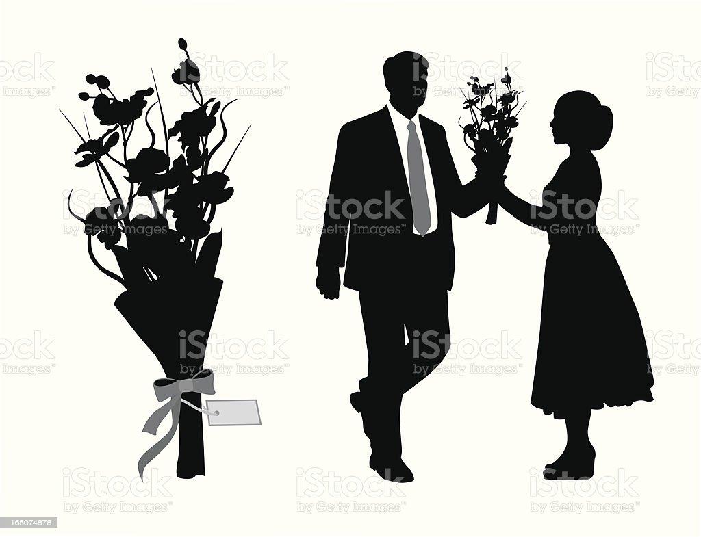 Romance Vector Silhouette vector art illustration