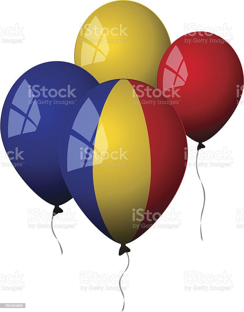 Romania - Balloons royalty-free stock vector art