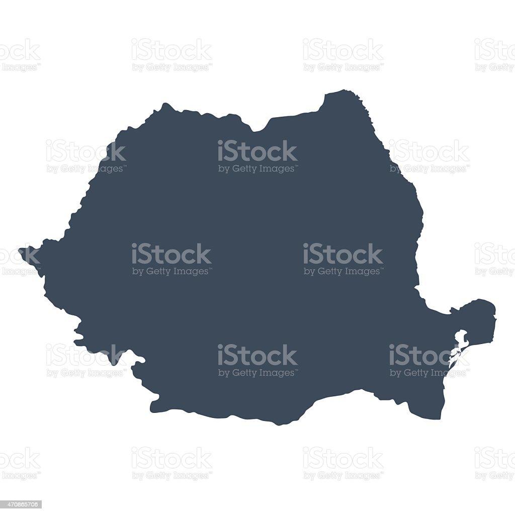 Romania country map vector art illustration