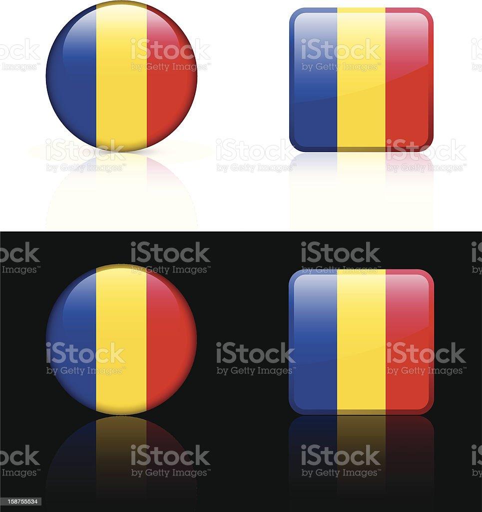 Romania Flag Button Set royalty-free stock vector art