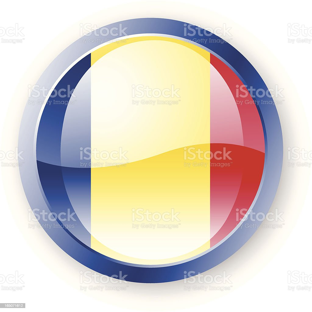 Romania Flag Icon vector art illustration