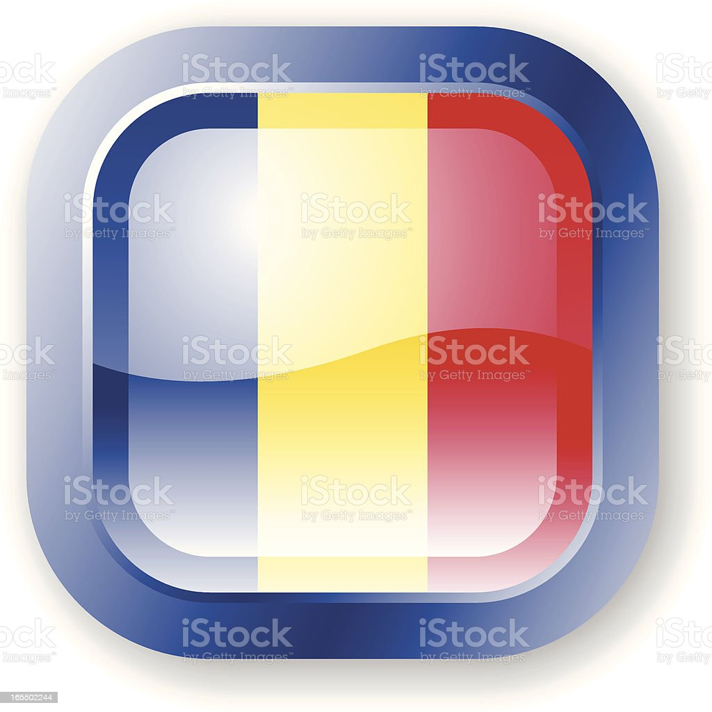Romania Flag Icon royalty-free stock vector art
