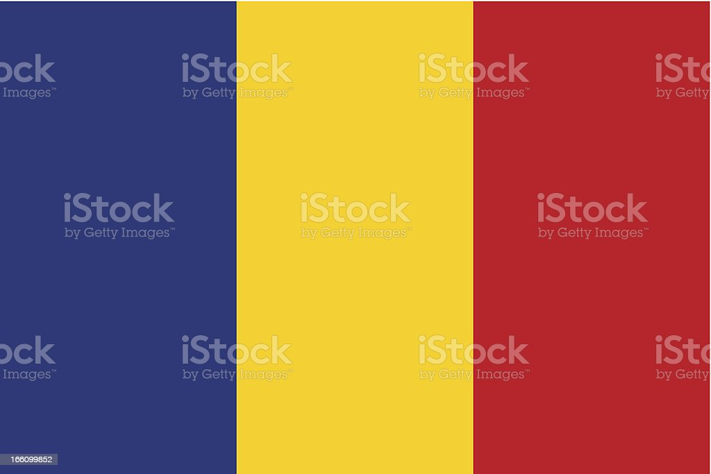 Romania Flag vector art illustration