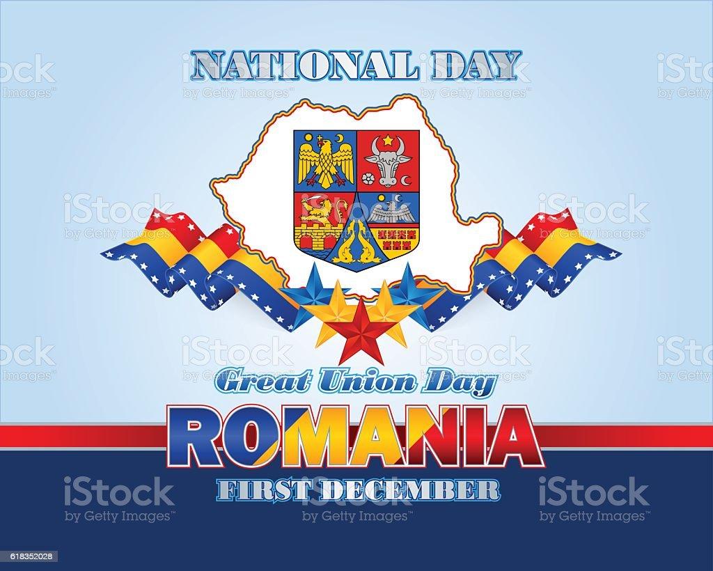 Romania, Great Union day vector art illustration