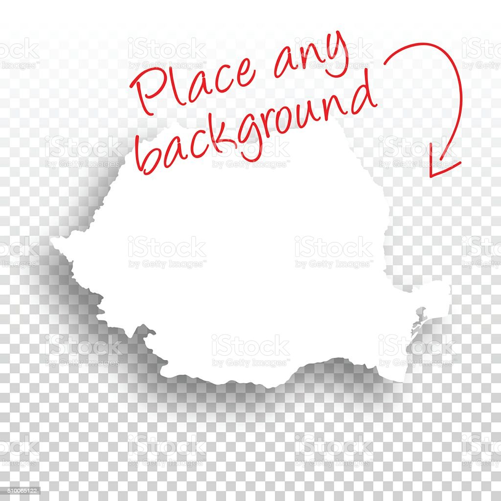 Romania Map for design - Blank Background vector art illustration