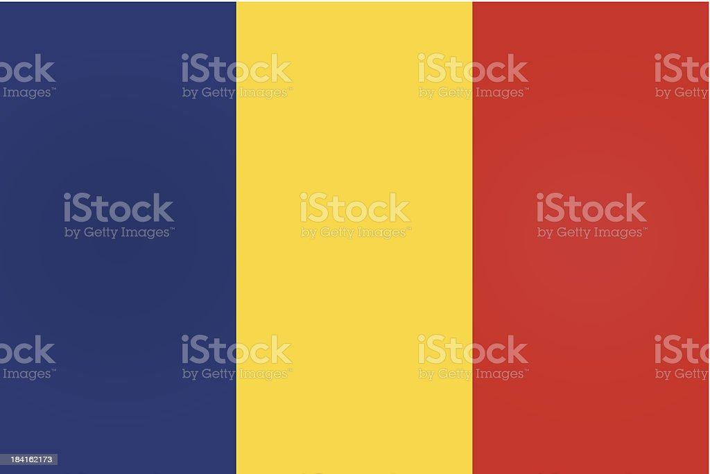 Romania or Romanian Flag vector art illustration
