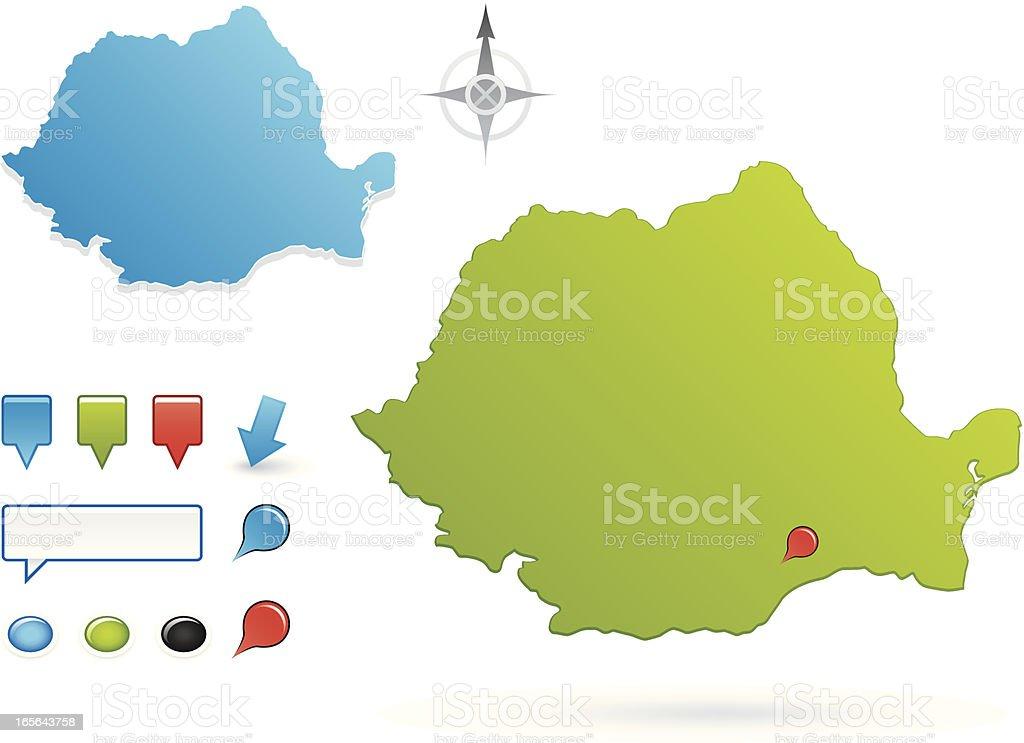 Romania royalty-free stock vector art