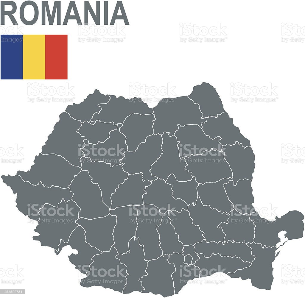 Romania vector art illustration