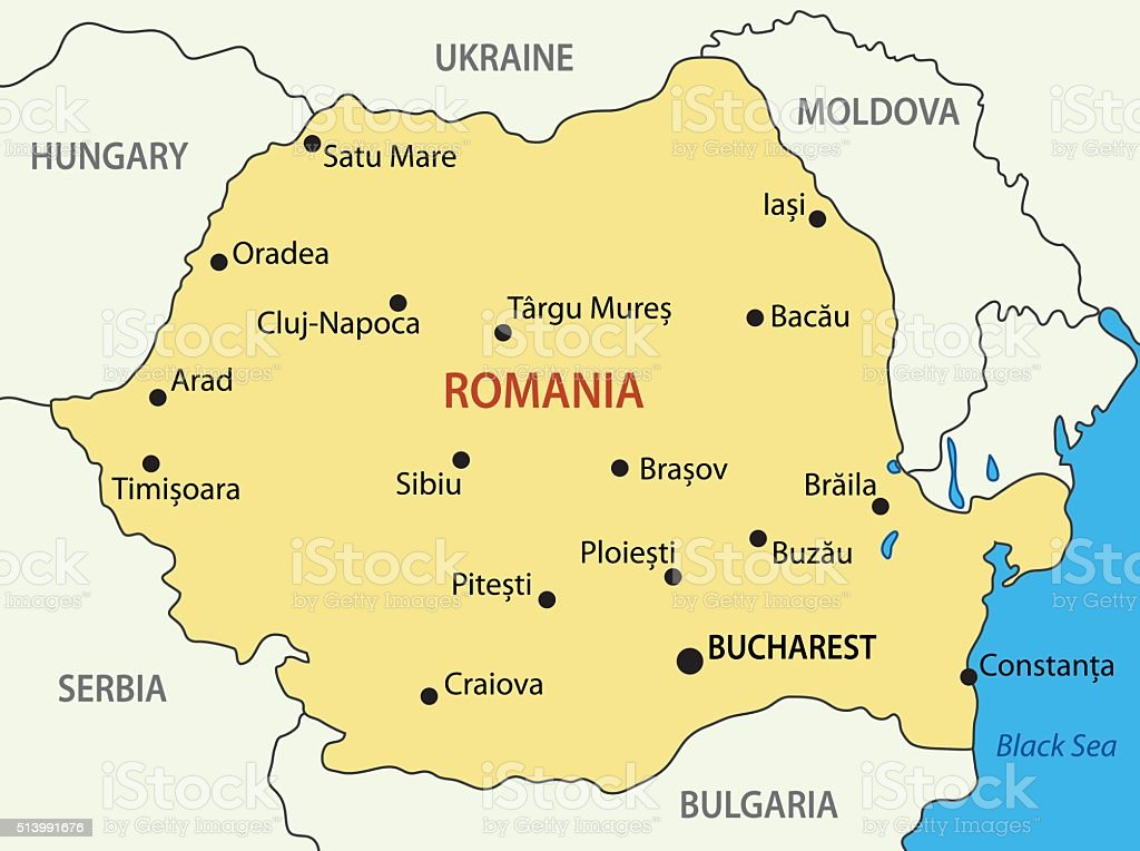 Romania - vector map vector art illustration