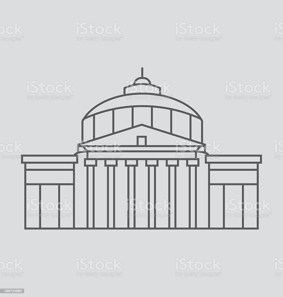 Romanian Capital line Illustration vector art illustration