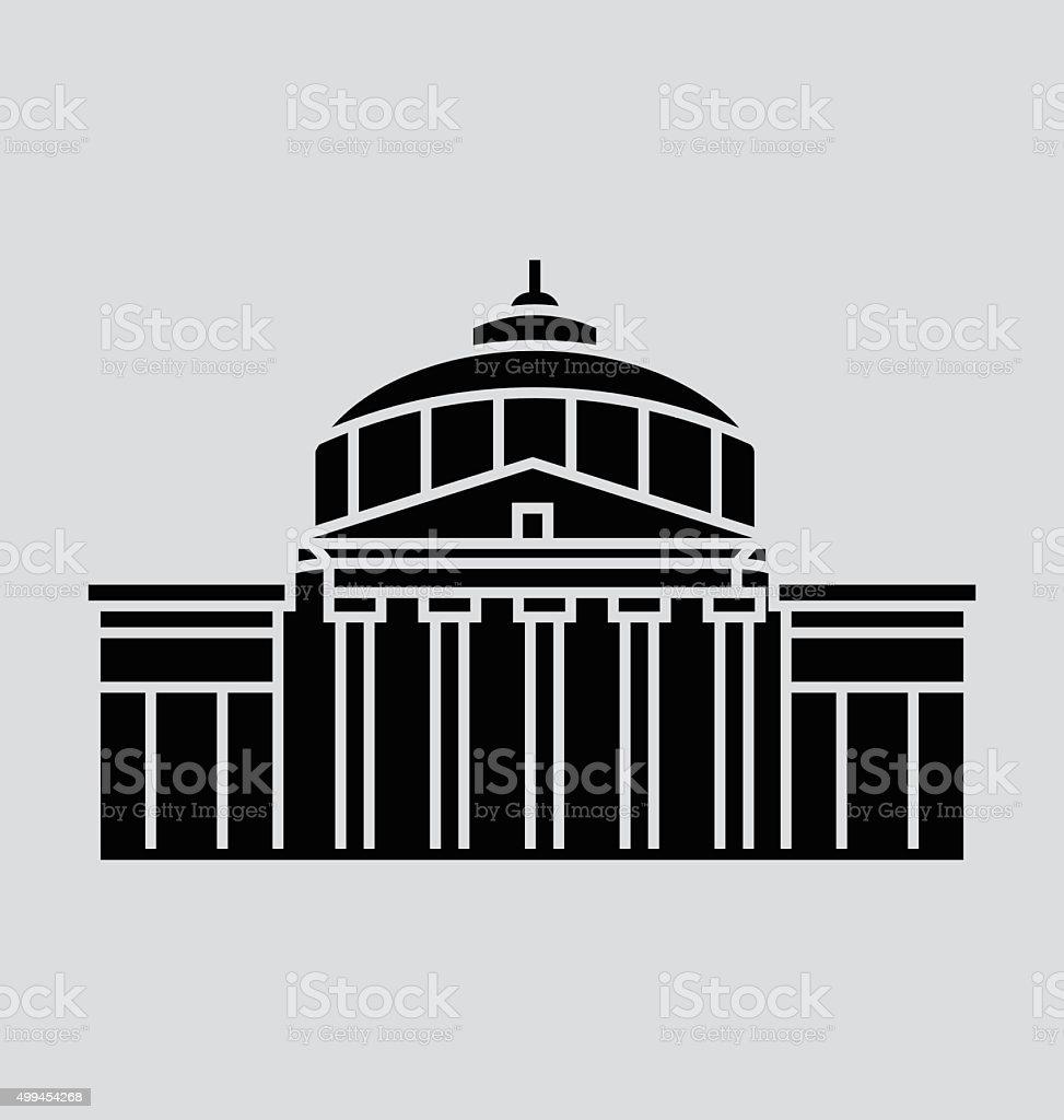 Romanian Capital Solid Vector Illustration vector art illustration