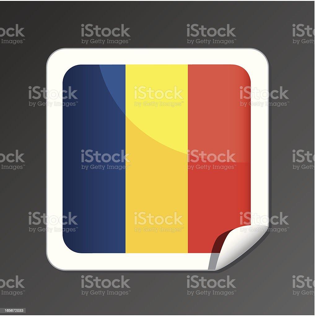 Romanian flag button royalty-free stock vector art