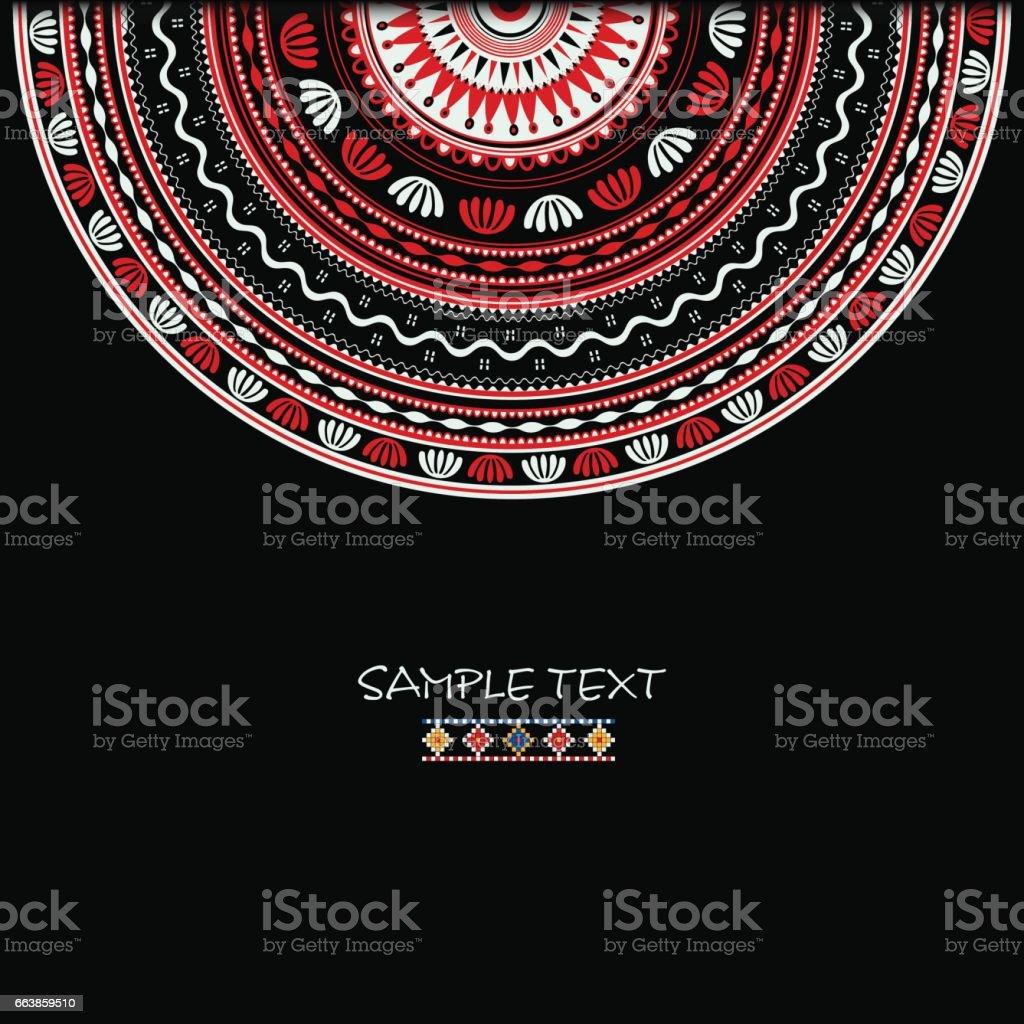 Romanian ornament vector art illustration