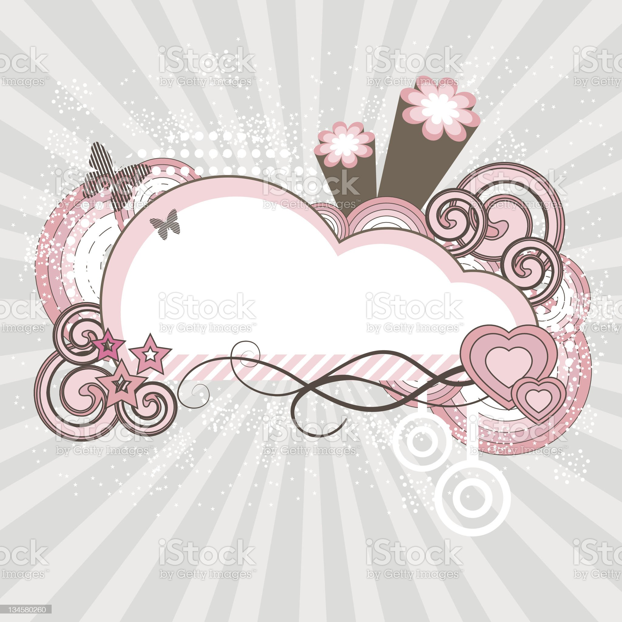 Romantic abstract frame royalty-free stock vector art