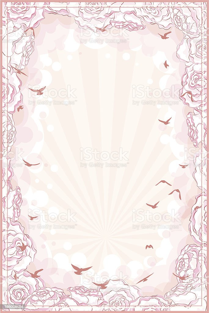 Romantic background vector art illustration
