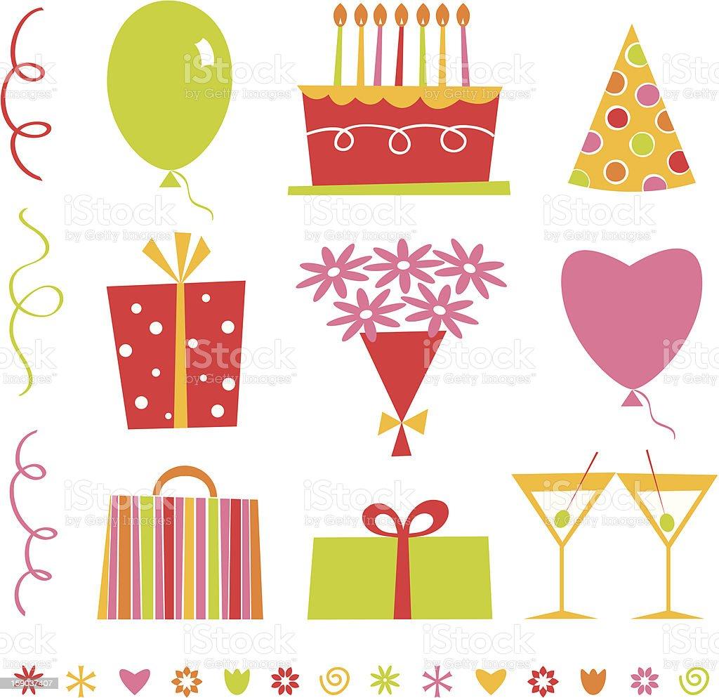 Romantic Birthday Collection royalty-free stock vector art