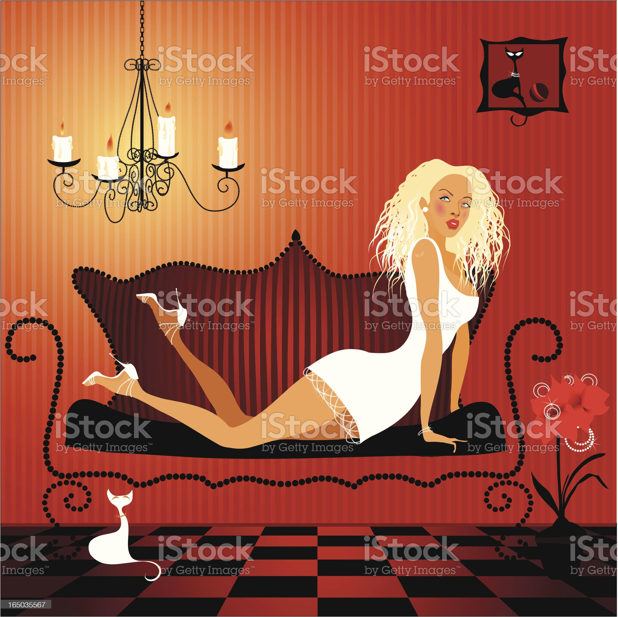 Romantic candle light royalty-free stock vector art