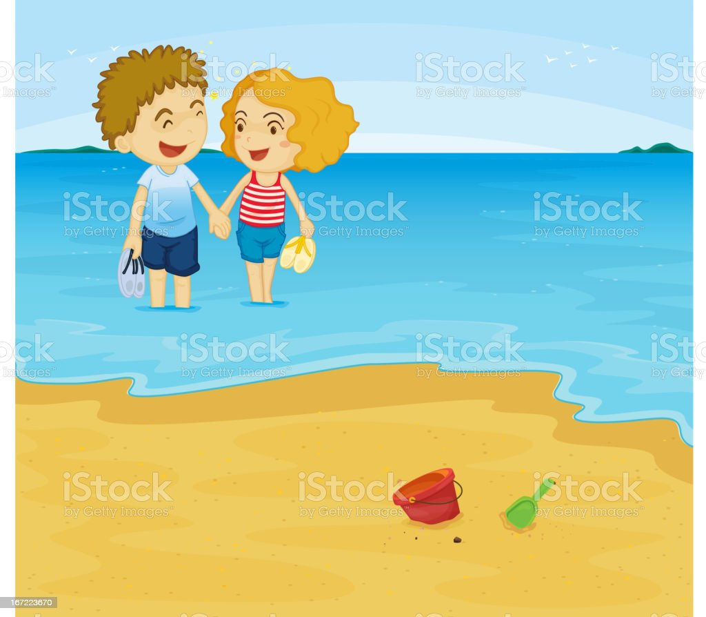 Romantic couple royalty-free stock vector art