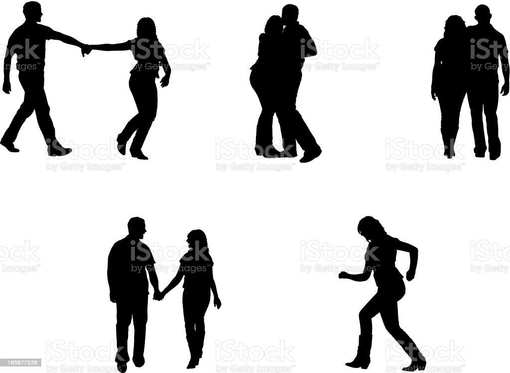 Romantic couples royalty-free stock vector art
