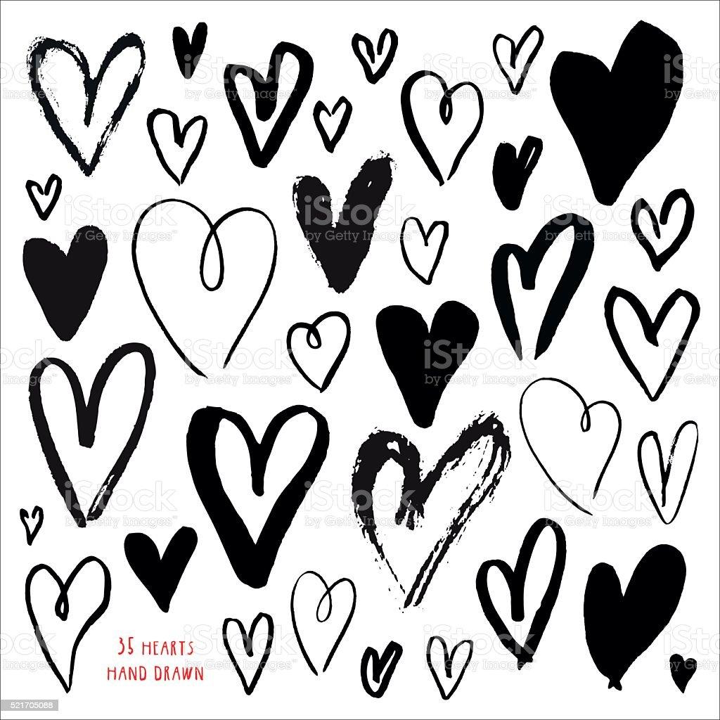 Romantic decoration set. vector art illustration
