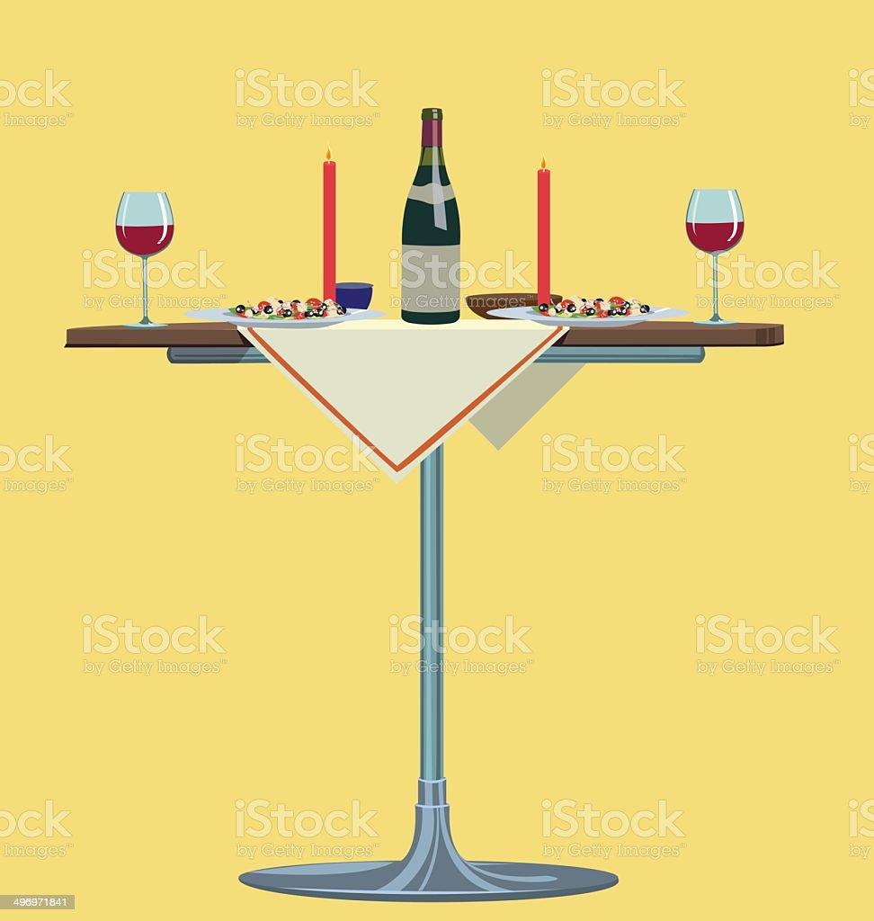 romantic dinner royalty-free stock vector art