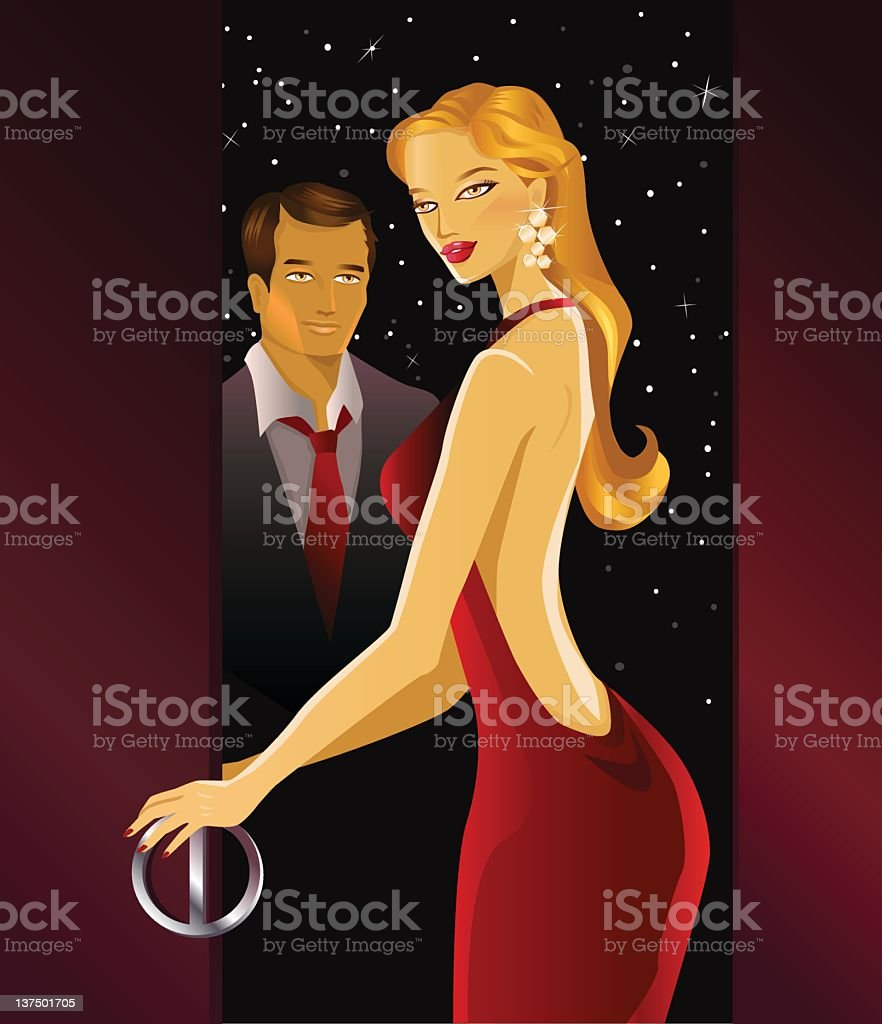 Romantic Evening royalty-free stock vector art
