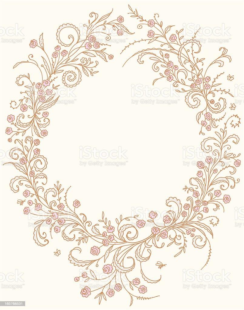 Romantic frame. vector art illustration