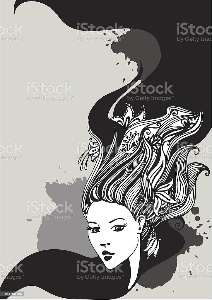 romantic girl background royalty-free stock vector art