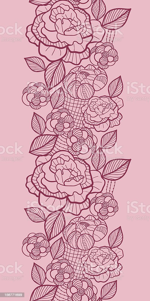 Romantic Lace Fabric Seamless Vertical Ornament royalty-free stock vector art