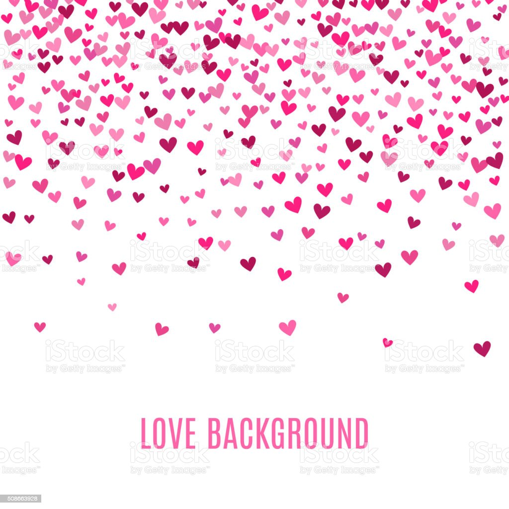 Romantic pink heart background. Vector illustration vector art illustration