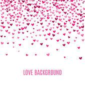 Romantic pink heart background. Vector illustration