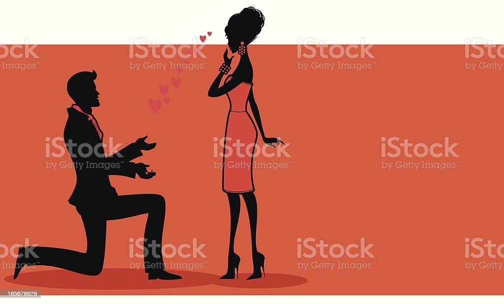 Romantic Proposal royalty-free stock vector art