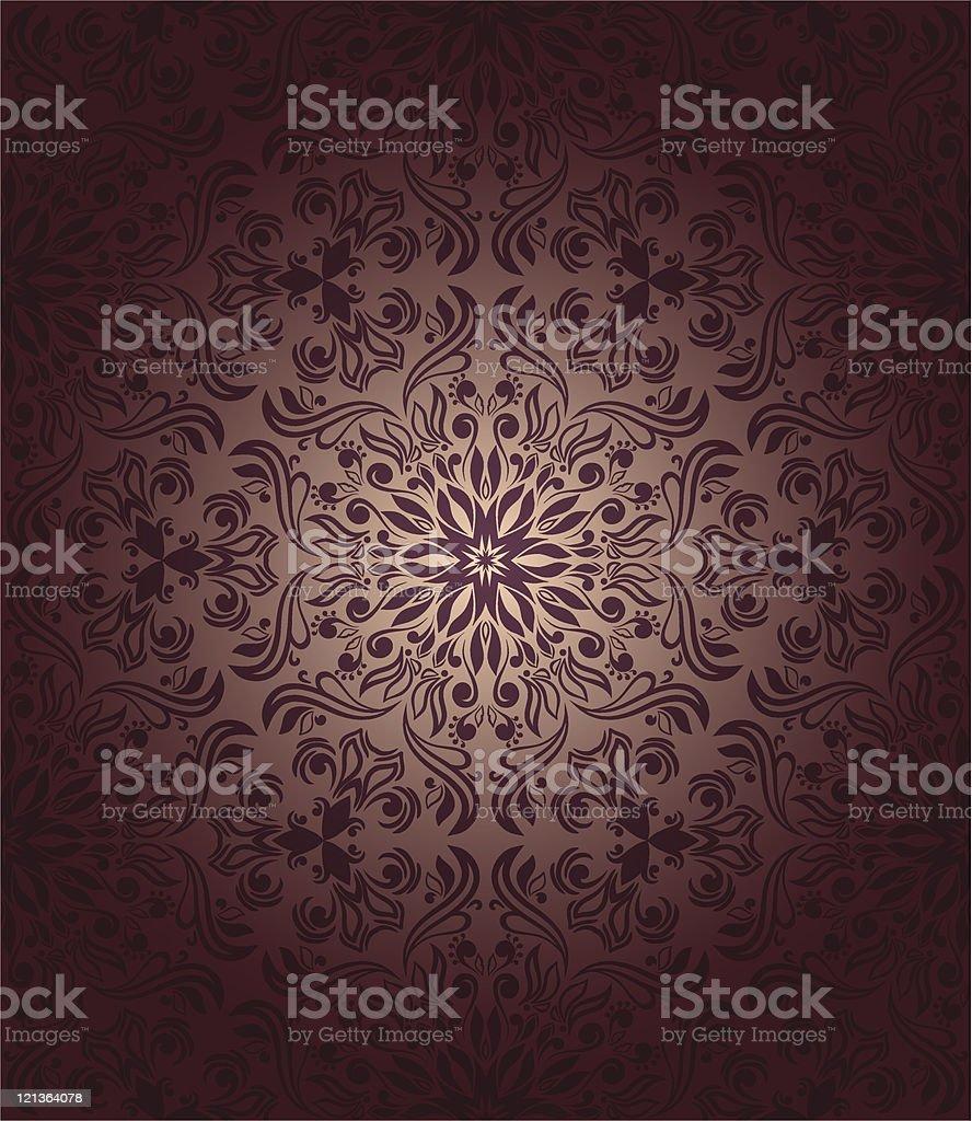 Romantic seamless wallpaper royalty-free stock vector art