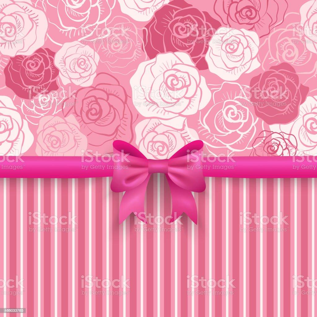 Romantic vector seamless background greeting card wallpaper vector art - Romantic Vector Seamless Background Greeting Card Wallpaper Royalty Free Stock Vector Art