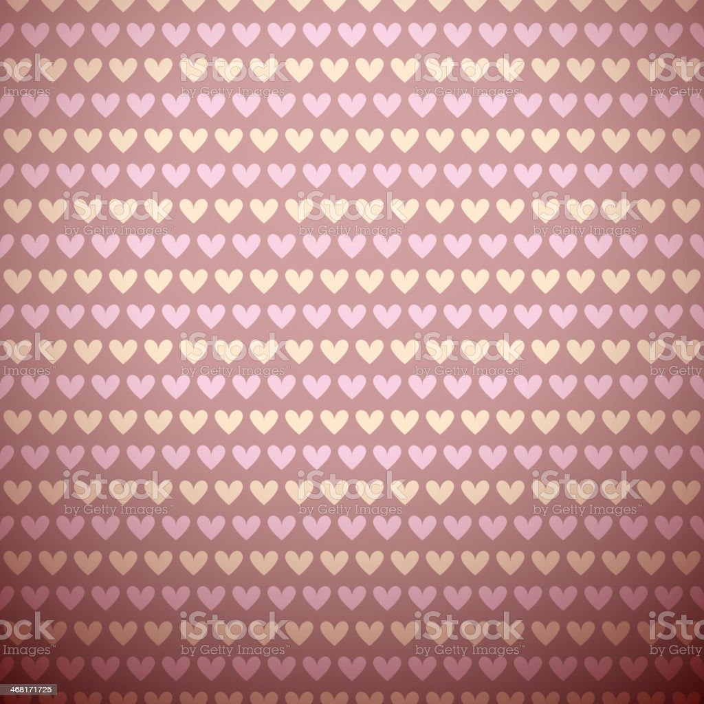 Romantic vector seamless pattern (tiling). Sweet pink royalty-free stock vector art
