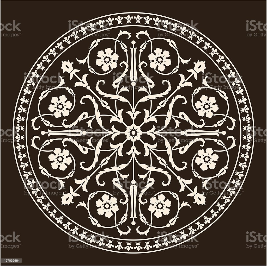 Rome Medieval Ornament royalty-free stock vector art