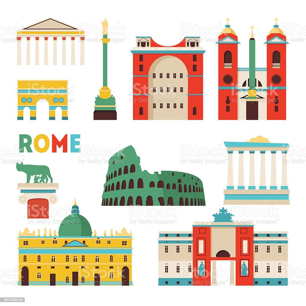 Rome skyline. Vector illustration vector art illustration