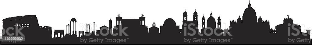 Rome (All Buildings Are Detailed, Complete and Moveable) vector art illustration