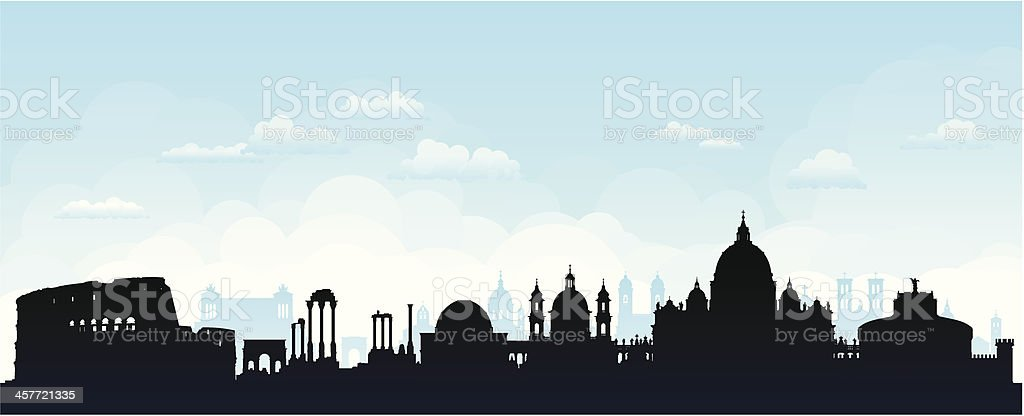 Rome (Buildings Are Detailed, Moveable and Complete) royalty-free stock vector art