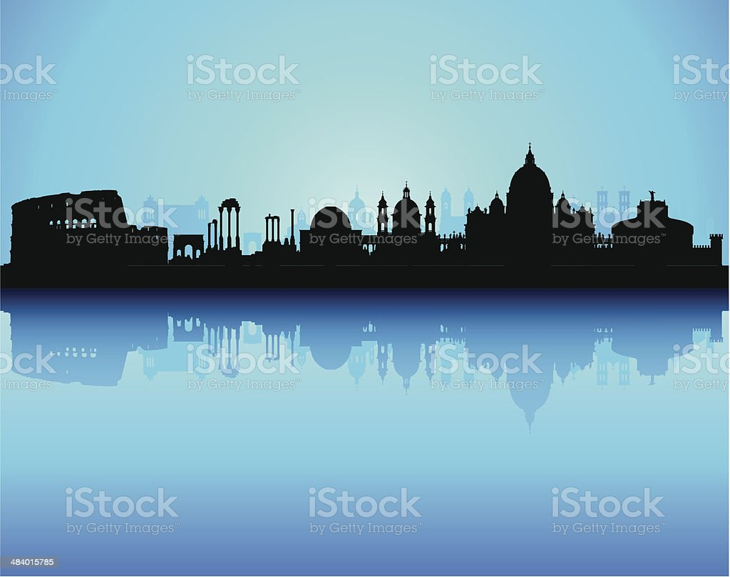 Rome (Complete, Moveable, Detailed Buildings) vector art illustration