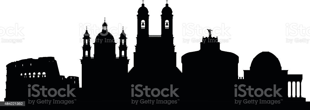 Rome (Buildings Are Complete and Moveable) vector art illustration
