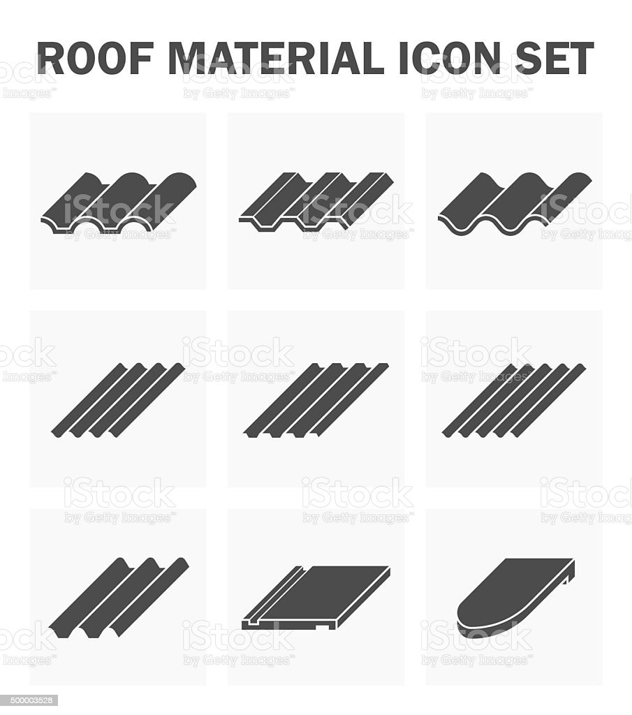 Roof icons vector art illustration
