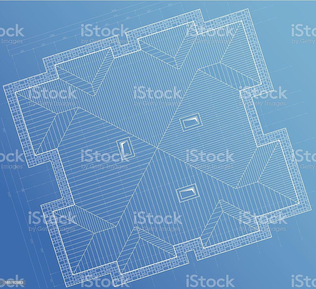 roof plan blueprint background royalty-free stock vector art