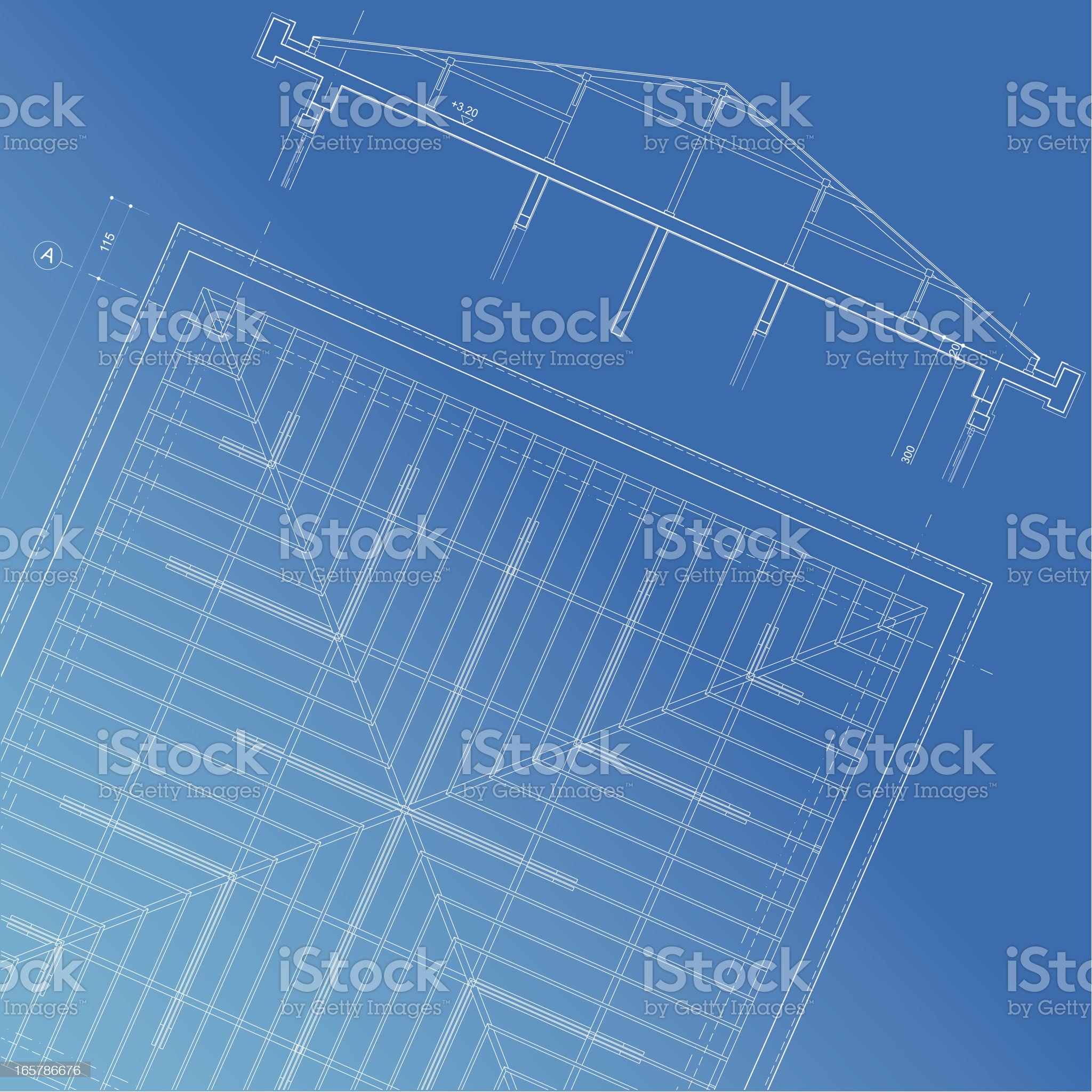 roof structure plan section royalty-free stock vector art
