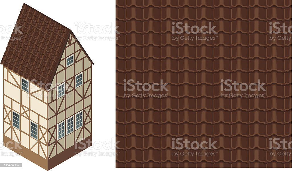 Roof Tile royalty-free stock vector art